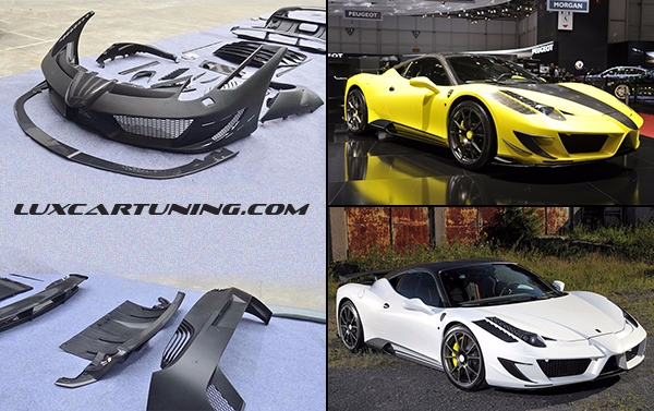 Full body kit Mansory Siracusa(copy no1) for Ferrari 458 Italia : kit including all parts which need for convert tuning Mansory