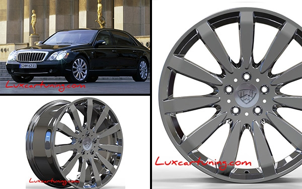 R19 chrome forged Wheels 62s Edition for all models of Maybach and Mercedes Benz S class: