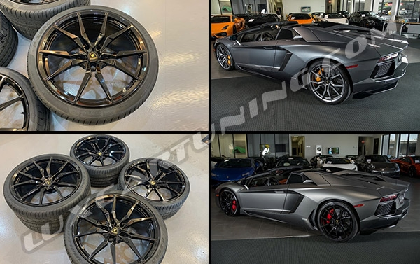R20/21 Aventador Dion original wheels set with tires for Lamborghini Aventador LP700-4.