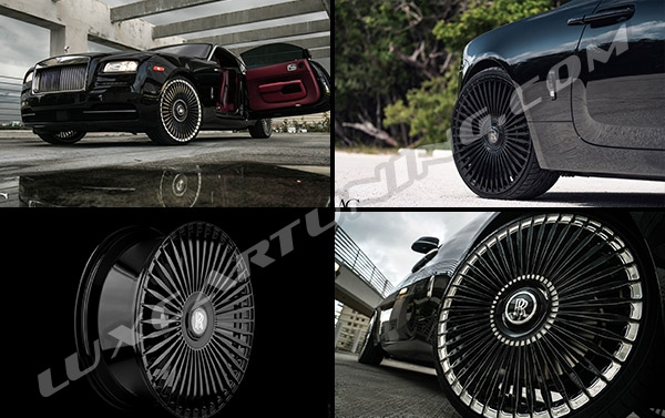 R22-24-26 inch monoblock forged AG45 Wheels from AG Luxury Wheels for Rolls Royce Cullinan, Ghost, Down, Wraith, Phantom, Drophead.