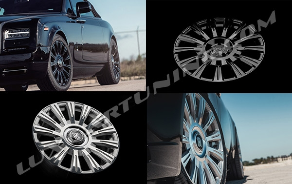 R22-24-26 inch monoblock forged AGL-48-RR Wheels from AG Luxury Wheels for Rolls Royce Cullinan, Ghost, Down, Wraith, Phantom, Drophead.