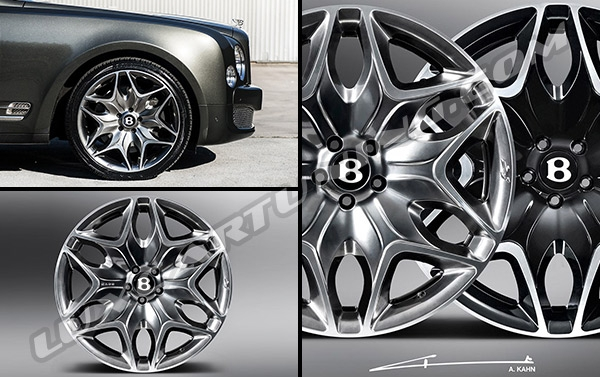 R22 original Kahn Split 6 wheels for Bentley Mulsanne and Continental.