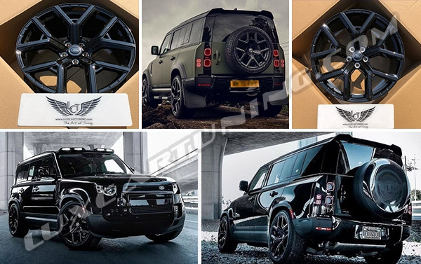 R22 wonderful fully forged wheels (5 pcs in set) for Land Rover Defender. All our wheels have 5 years warranty and free worldwide shipping.