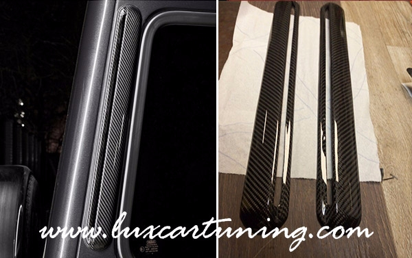 Rear carbon air intakes for Mercedes Benz G class W463