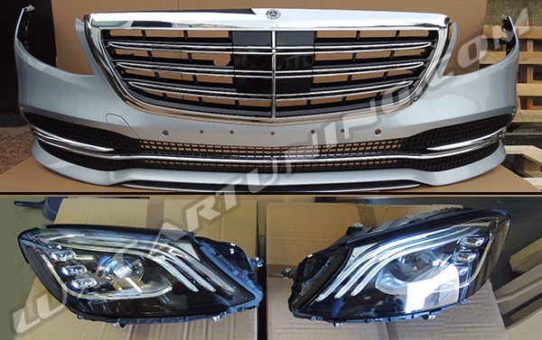 S500 upgrade 2017/18 MY body kit for Your Mercedes Benz S class W222