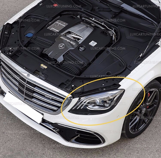Luxcartuning Spare Parts And Accessories S63 Amg 2017 18 Model Facelift Kit For Mercedes Benz S Cl W222 16 To Convert 2018