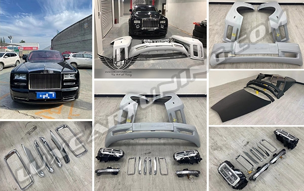 Series II facelift body kit for Rolls Royce Phantom 7. All parts in kit are plug and play, have 100% fitment, warranty and free worldwide shipping.