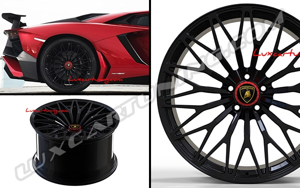 SV forged wheels R20 J9 for front and R21 J12 for rear for Lamborghini Aventador.