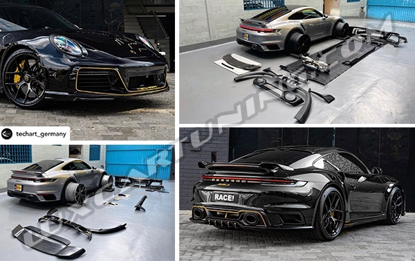 Techart full conversion kit for Porsche Carrera 992 Turbo s available for order in @luxcartuning_official