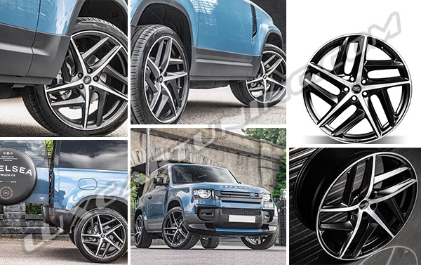 The best R22 forged wheels for Land Rover Defender 90 and 110: in set can be 4 or 5 wheels, all wheels are forged, with 5 years warranty and free worldwide shipping.