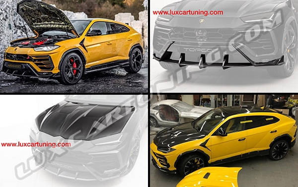 The first in the world carbon fiber aerodynamic body kit from Top Car Design for Lamborghini Urus: