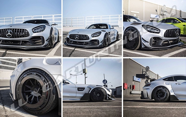 The widest body kit GT3 for Mercedes Benz AMG GT with amazing carbon face wheels you can order in @luxcartuning_official