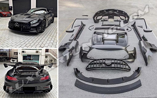 Wide body kit Black Series in dry carbon material taken in autoclave, with 5 years warranty and 100% fitment for Mercedes Benz AMG GT/S/R